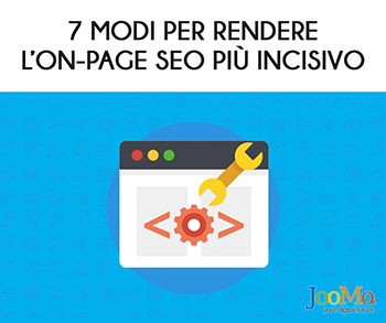 On Page SEO incisivo JooMa